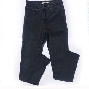 Levi's slimming Black skinny jeans